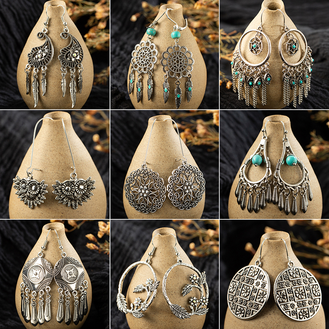 Multiple Ethnic Dangle Drop Earrings Hanging for Women 2019 Fashion Engagement Wedding Party Earrings Jewelry Accessories.jpg 640x640 - Multiple Ethnic Dangle Drop Earrings Hanging for Women 2019 Fashion Engagement Wedding Party Earrings Jewelry Accessories