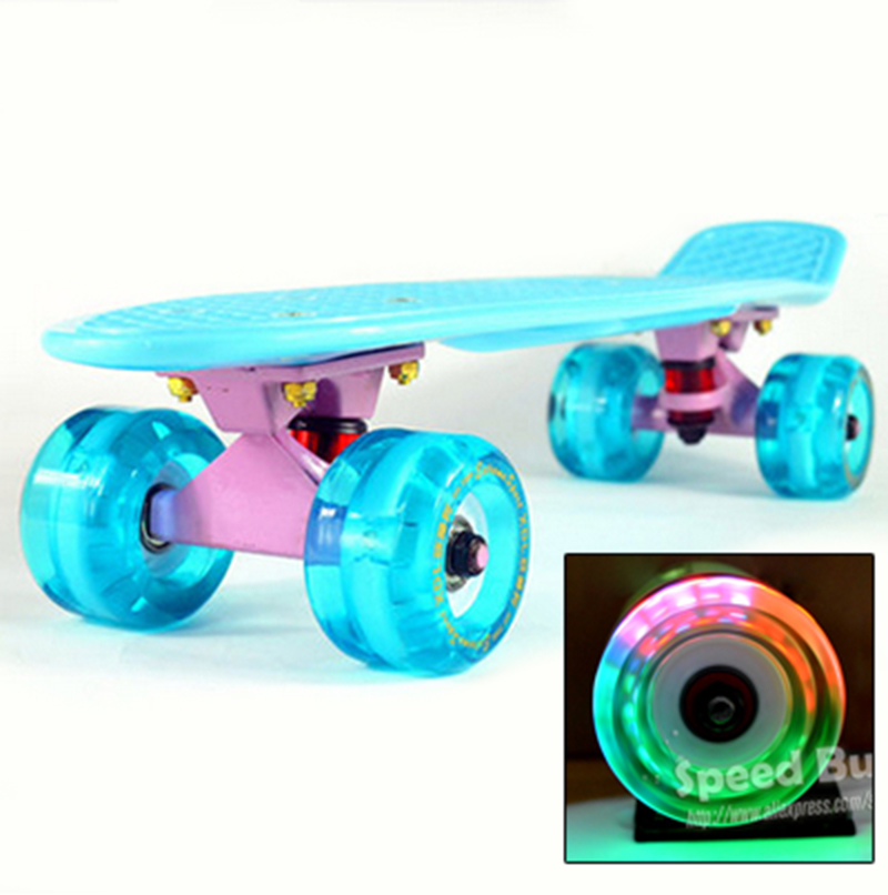72mm wheel Professional small skateboard single long board adult children become warped road skate board scooter upgrade 2016 new peny board skateboard complete retro girl boy cruiser mini longboard skate fish long board skate wheel pnny board 22