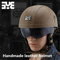 motorcycle helmet classic harley helemet vespa vintage summer half helmet jet retro capacete casque moto helmet DOT