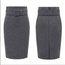 New Fashion Autumn Winter Style 2017 Cotton Plus Size High Waist Saias Femininas Casual Midi Pencil Skirt Women Skirts Female De