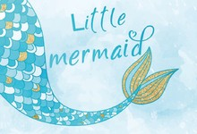 Laeacco Baby Girl Party Mermaid Tail Glitters Photography Background Customized Photographic Backdrops For Photo Studio