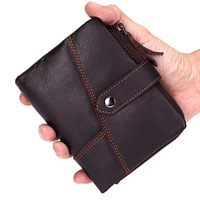 HOT High Quality Genuine Leather Men S Wallet Brand Retro Practical Cowhide Vintage Male Wallet