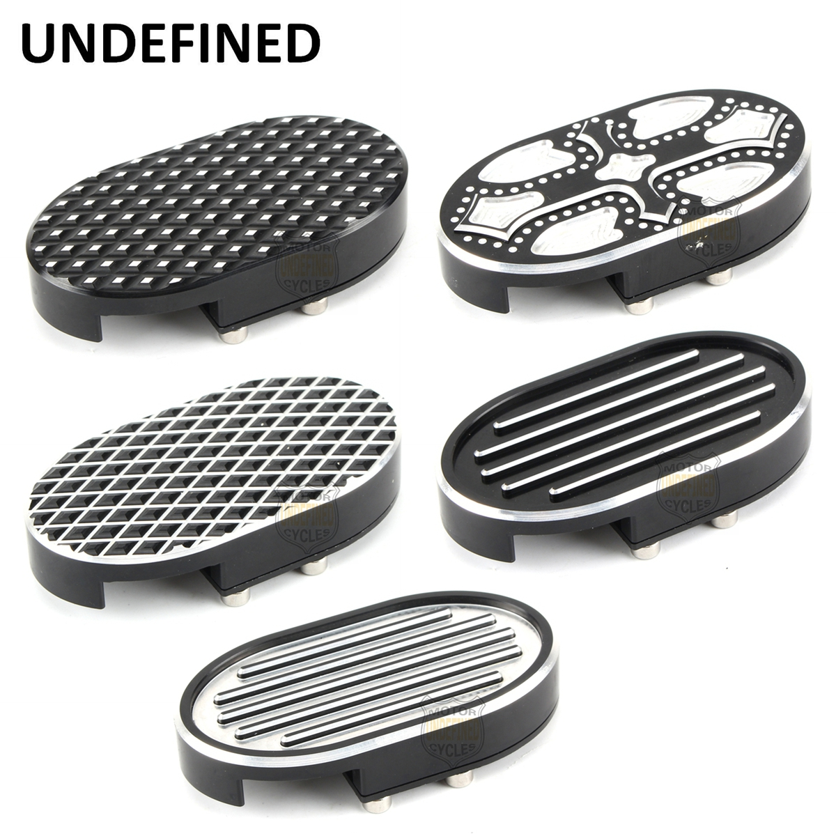Motorcycle Parts CNC Brake Pedal Pad Cover Aluminum Footreats Cover For Harley Dyna Wide Glide Sportster XL883 XL1200 UNDEFINED motorcycle chrome front spoiler chin fairing for harley sportster xl883 1200 04 15 new