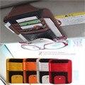 Солнцезащитный козырек многофункциональный пу пакет карт держатель очки хранения Pen организатор висит сумка автоаксессуары карманные