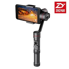 Фотография ZHIYUN Smooth 3 Handheld Gimbals Pan Head Stabilizer Mobile Phone PTZ Live For GoPro For xiaoyi Motion Action Camera Anti Shake