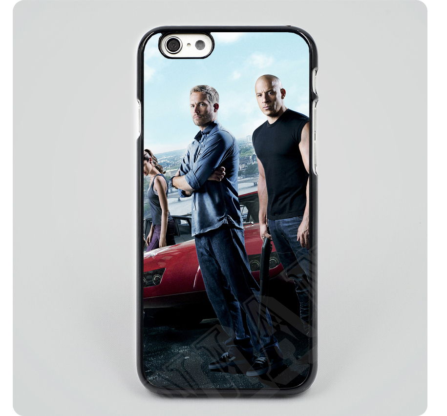 Fast-Furious-6-Paul-Walker-Vin-Diesel-hard-black-plastic-mobile-phone-cases-cover-housing-for