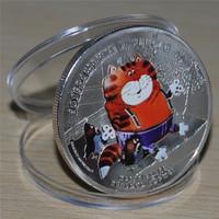 10pcs/lot free shipping,2012 Elizabeth II Silver Coin,Animal Cartoon Cat Silver Coin