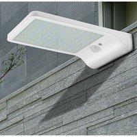 Luces de porche LED Ultra delgadas, lámpara Solar para jardín, lámpara de pared impermeable con Sensor de movimiento PIR, lámpara Solar para iluminación de decoración al aire libre