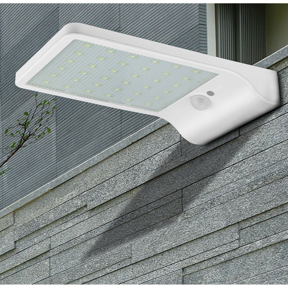 Ultra Thin LED Porch Lights Solar Garden light Wall lamp waterproof PIR Motion Sensor Solar Lamp for Outdoor Decoration lighting ...