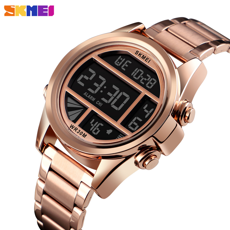 714c2e7687ba Detail Feedback Questions about Fashion Men Watches Luxury Gold Digital  Wristwatch Waterproof Chronograph Sport Bracelet Luminous Display Electronic  Watch ...