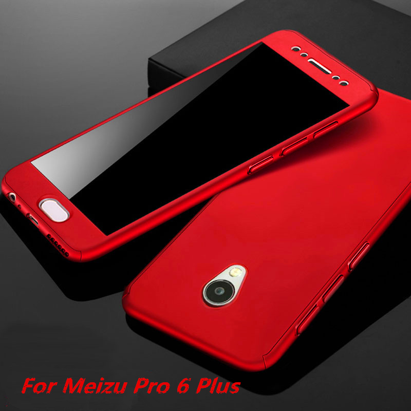 For Meizu Pro 6 Plus Case 5.7'' Luxury 360 Degree Full Body Protection Cases With Tempered Glass for Meizu Pro6 Plus Phone Case