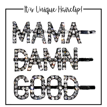 Shiny Crystal MAMADAMNGOOD Word Hair Clip Barrette Rhinestones Personalized Name Hairpin Hair Accessories For Women Girls hot fashion crystal letters hair clip for women barrette stick hairpin hair styling accessories customized word clip bangs clips