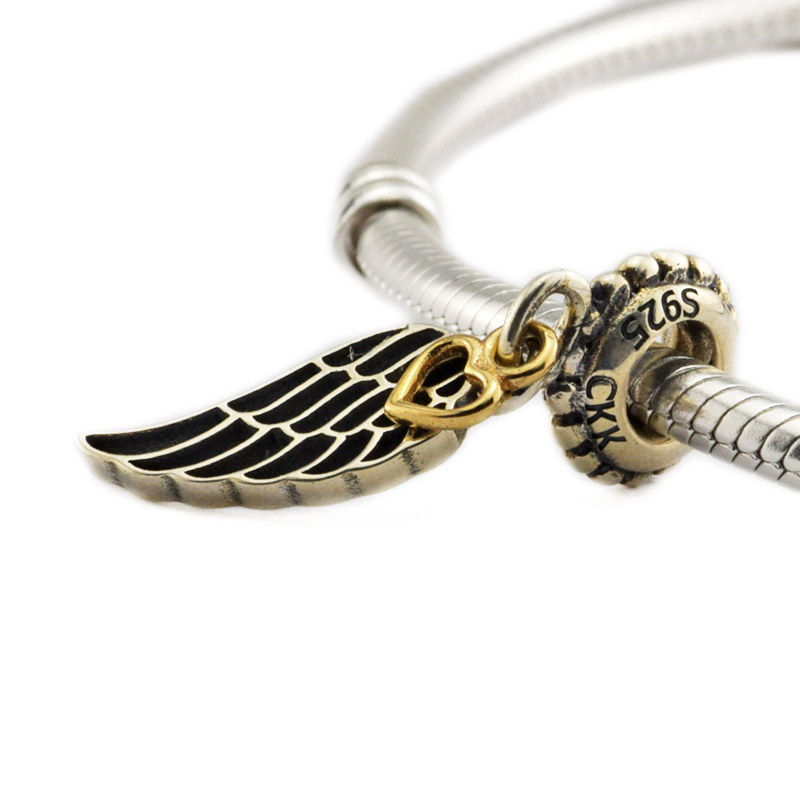 Pandora Jewelry Free Shipping: DIY Fits Pandora Charms Bracelets Angel Wing Beads With