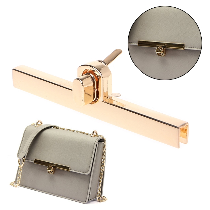 Thinkthendo New Metal Clasp Turn Locks Twist Lock For Diy Handbag Craft Bag Purse Hardware Elegant Gold Bag Accessories