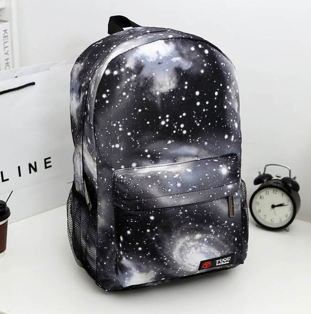 c81cbadc869 Galaxy design backpack for boy and girls Casual school bag shoulder bag  Free Shipping-in Backpacks from Luggage   Bags on Aliexpress.com
