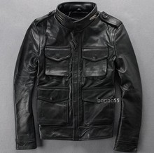big size men's fashion winter leather clothing genuine leather stand collar suede leather motorcycle leather jacket