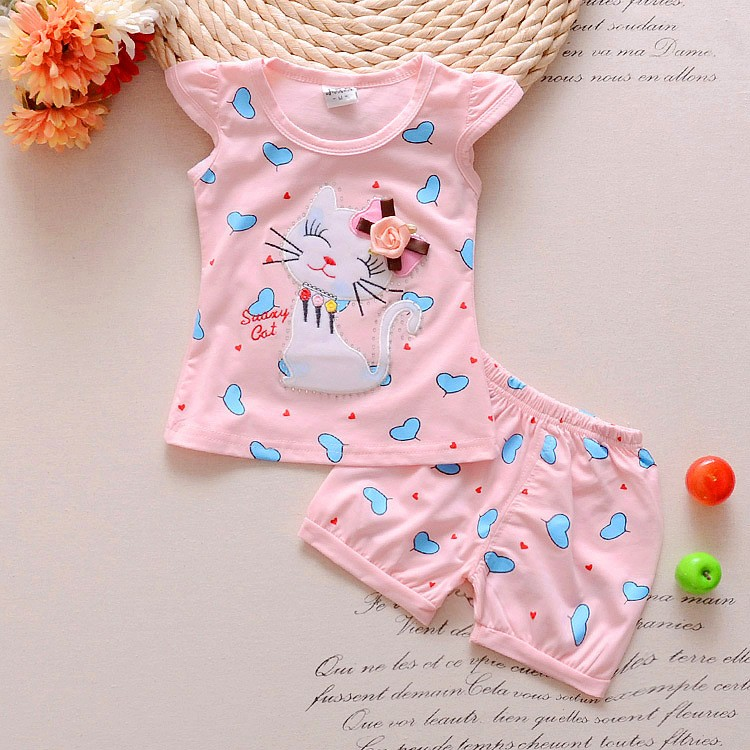 2016-Infant-clothes-toddler-children-summer-baby-girls-clothing-sets-cartoon-2pcs-cat-love-clothes-sets (3)