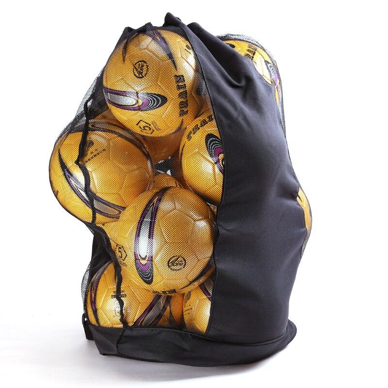 Football Soccer Bag Basketball Volleyball Portable Sports Big Storage Bag Training Netball Backpack Nylon Outdoor Meshbag
