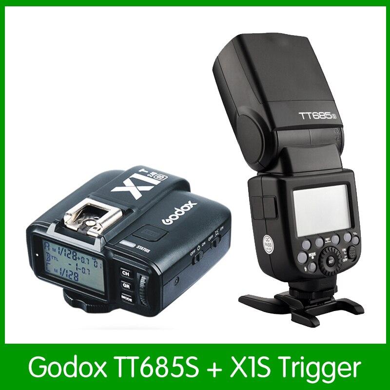 Godox TT685S 2.4G HSS TTL GN60 Flash Speedlite + X1S Trigger Émetteur Kit pour Sony a7 a7s a7m2 a6000