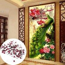 5D DIY diamant mosaik diamantstickerei tiere Dekorative Malerei schöne pfauen voll Runde Strass Bilder