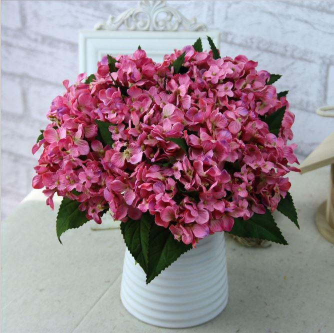 simulacin de la artesana boda del hydrangea artificial flores arreglos ramo de san valentn de flores