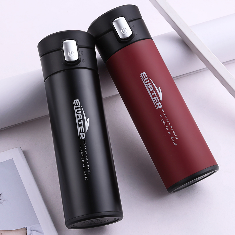 Business Design Glass Inside Vacuum Flasks 320ml Thermoses Offce Cup Good Quality Glass Thermoses Car Use Men Thermal Bottle