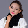 New 2016 Genuine Real Rex Rabbit Fur Scarf Women Fluffy Winter Keep Warm Fur Elegant Scarves Free Shipping