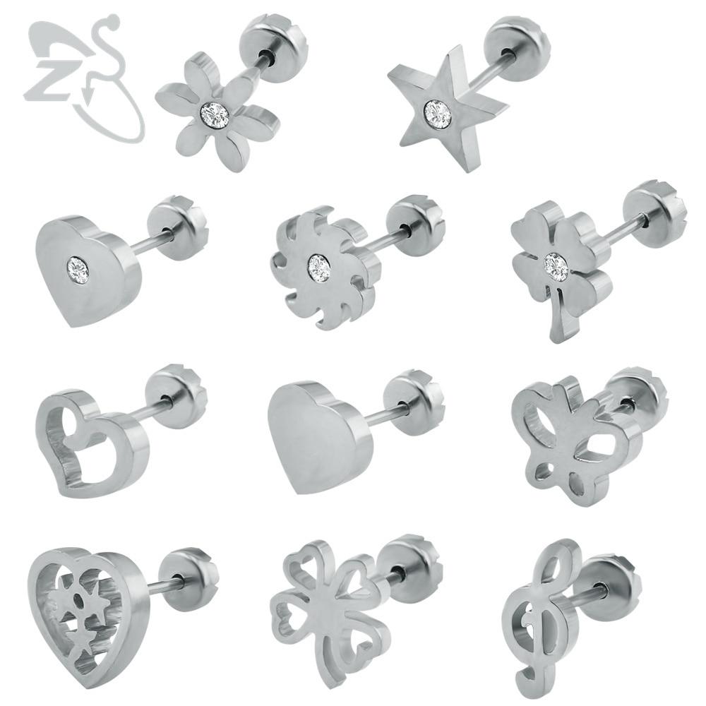 Baby Oorbellen RVS Kinderoorbellen Mode-sieraden Meisje Stud Earing - Mode-sieraden - Foto 2