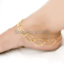 F11 Fashion Body Harness Chain Foot Jewelry Gold Silver Colo