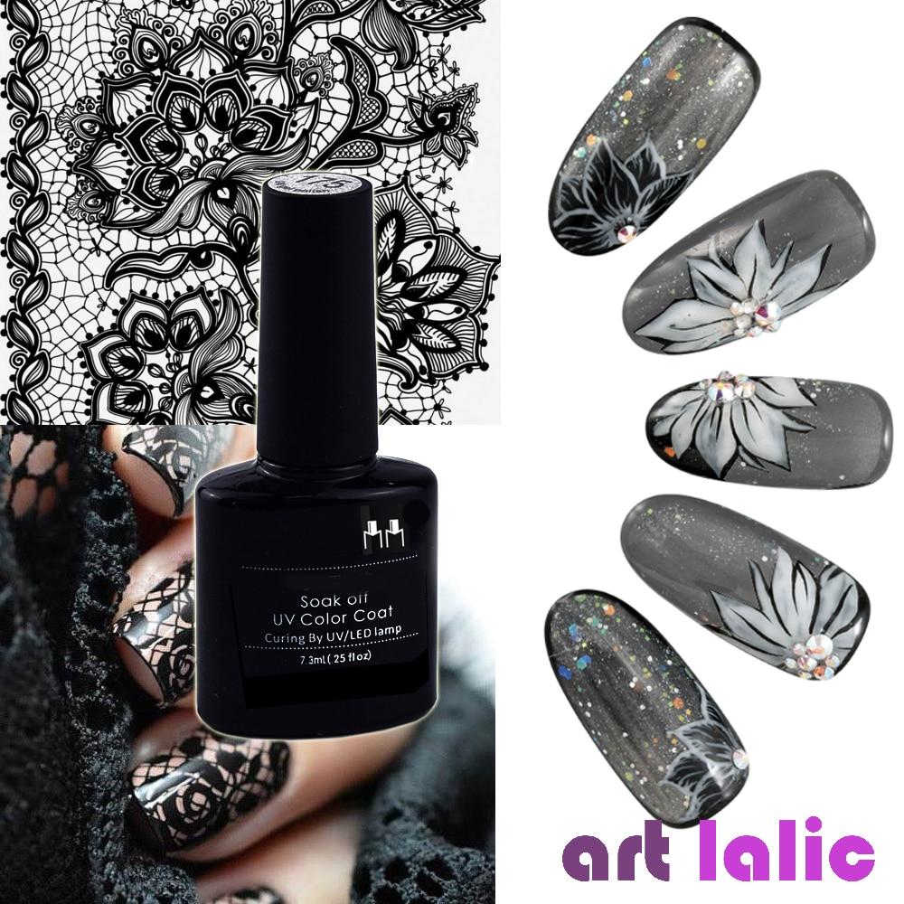 Black Transparent Gel Nail Polish UV Long-lasting Soak Off LED Gel Jelly Pudding Black Beauty Nail Art Tools 10ml Lace Varnish