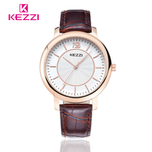 Kezzi Watch Fashion Quartz Watches Leather Women Men watch Casual Dress Wristwatches k1333