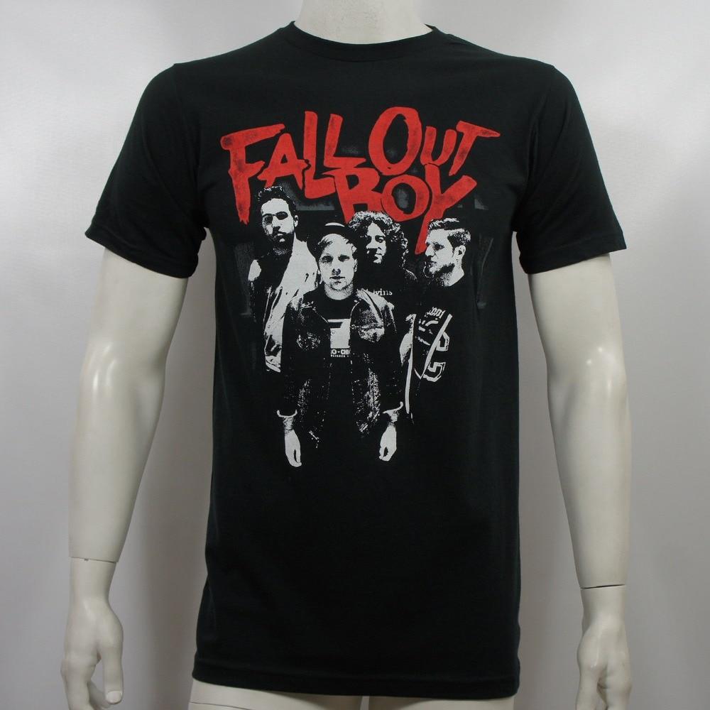 2018 Latest Fashion Fall Out Boy Band Scratch Band Photo T Shirt S M L Xl 2Xl New Printed T Shirt Men T Shirt Casual Tops