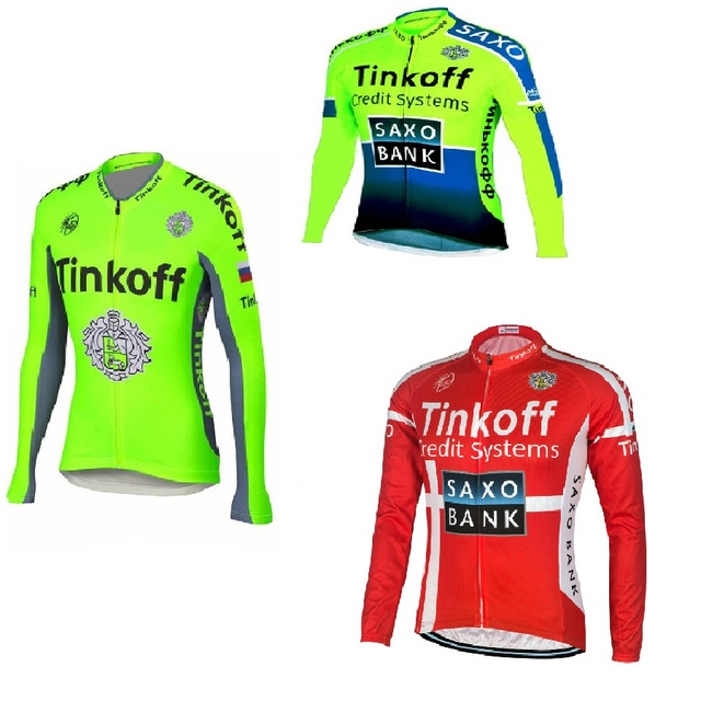 76bc585e7 Ropa Ciclismo Hombre Invierno 2018 Pro Team Tinkoff Saxo Bank Long Sleeve  Winter Thermal Fleece Cycling Jersey Bicycle Clothes