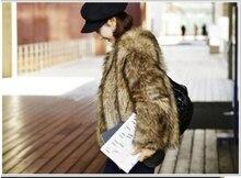 winter new fashion women faux fur coat Brown Luxurious slim warm fox fur jacket  plus size fur coat S~3XL genuo new 2019 winter fashion women s faux fur vest faux fur coat thicker warm fox fur vest colete feminino plus size s 3xl