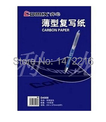 Comix D4008 copy carbon paper duplicating paper 100sheets size 255*370mm ,color : blue free shipping