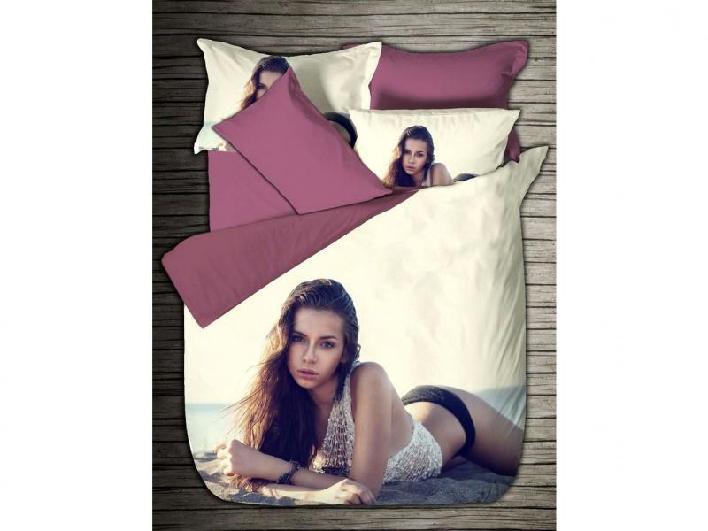 Bedding Set double-euro VIRGINIA SECRET, Bamboo, girl, 3D girl 3d model