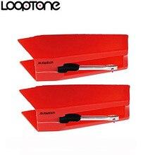 Looptone 2 pces sapphire derrubado agulha cerâmica para jogadores da plataforma giratória do jogador do registro do lp do vinil, acessório do gramofone
