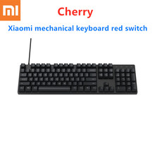 Xiaomi Mi Cherry Mechanical Keyboard 104 Keys USB Wired Cherry Red Switch Mechanical Gaming Keyboard Aluminum Alloy for Gamers цена 2017