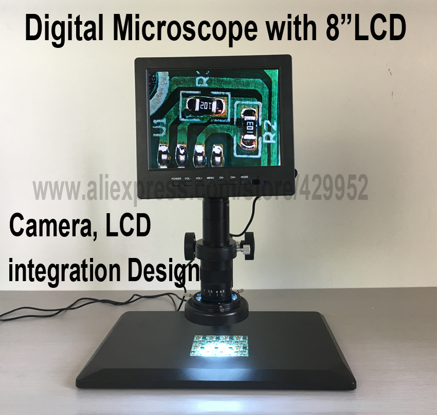 efix 8 inch LCD Display Microscope Camera LCD integration Digital Video For Electronic PCB BGA iPhone Computer Repair Tools