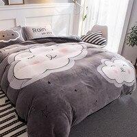Новый модный принт дома Постельное белье супер теплые флисовые двуспальная кровать Стёганое одеяло покрывало лист для дома постельные при