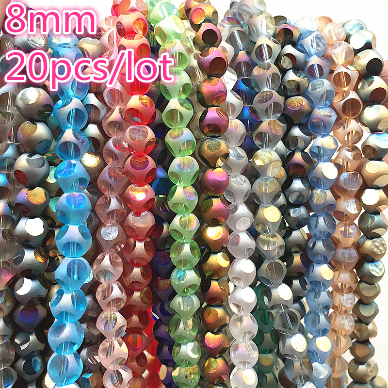 NEW DIY 4mm 100pcs crystal Oblate Pearl Spacer Loose Beads Jewelry Making #08