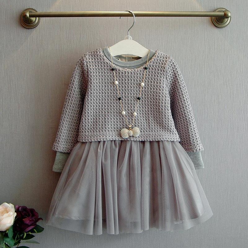 Toddler Girls Long Sleeve Dresses