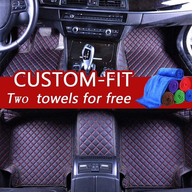 TENGRUI Car-Styling Carpet Custom Car Floor Mats for Audi A1 A3 A4 A4l A5 A6 A6L A7 A8 Q3 Q5 Q7 S and RS series car mats