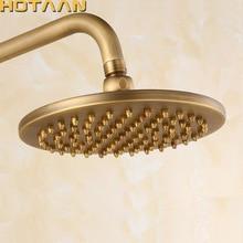จัดส่งฟรี 8 นิ้ว 20x20 ซม.รอบOverhead Rain Showerหัวฝักบัวอาบน้ำทองแดง,แอ็คคิวทีฟพระเยซูทองเหลืองห้องน้ำ,Chuveiro YT 5113