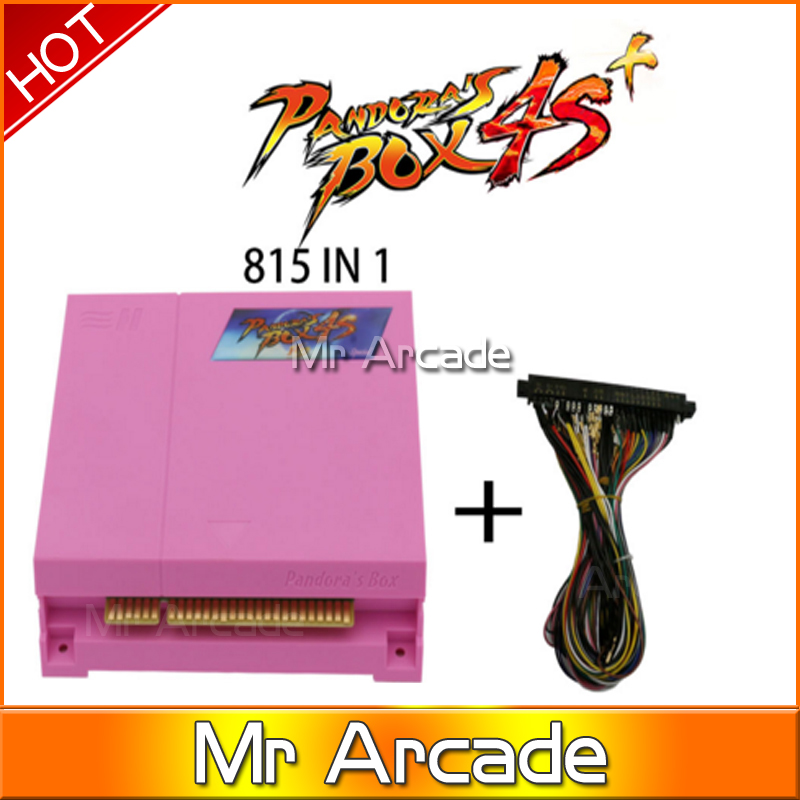 original Pandora Box 4s plus 815  in 1  Arcade Game cartridge jamma Multi game board WITH vga and HDMI OUTPUT pandora box 4s new arrival 680 in 1 jamma arcade game cartridge jamma multi game board with vga and hdmi output
