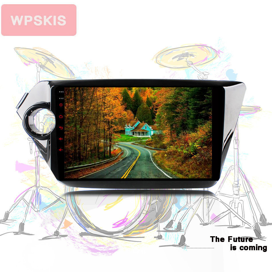 Octa core android 10.0 in dash Auto stereo headunit tablet gps navi with 4g wifi for Kia k2 RIO 2008 2015 dvr dab cam mirror swc image