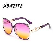 XINFEITE Brand 2017 Hot Sale Casual Women Oversized Sunglasses Vintage Luxury Designer Fashion Eyeglasses Female Sun Glasses