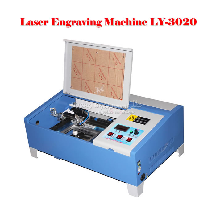 LY 3020/2030 40W CO2 mini Laser Engraving Machine with digital function and honeycomb stamp laser machine 3020 with lift system up and down function 40w heigh configration