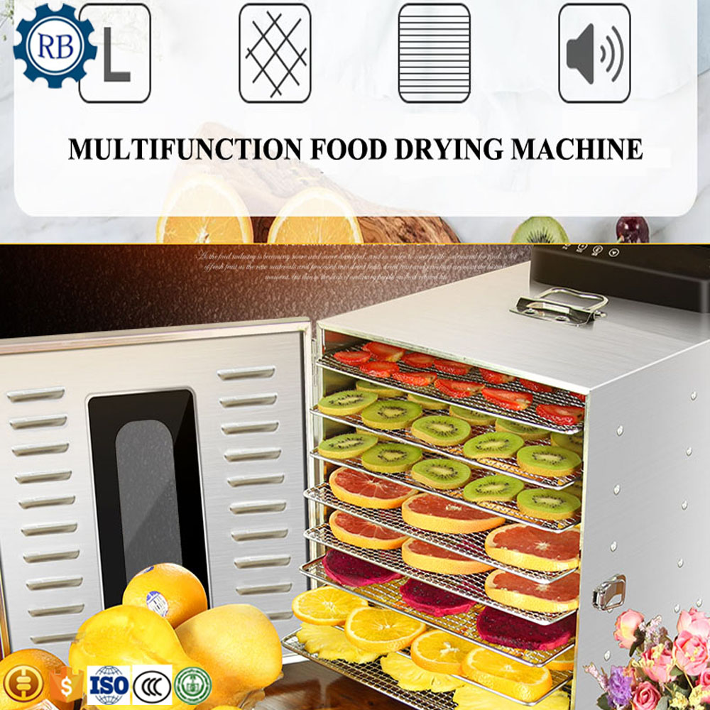 8 Layers Hot Selling Food Dehydrator Fruit Dryer Food Drying Machine On Sale