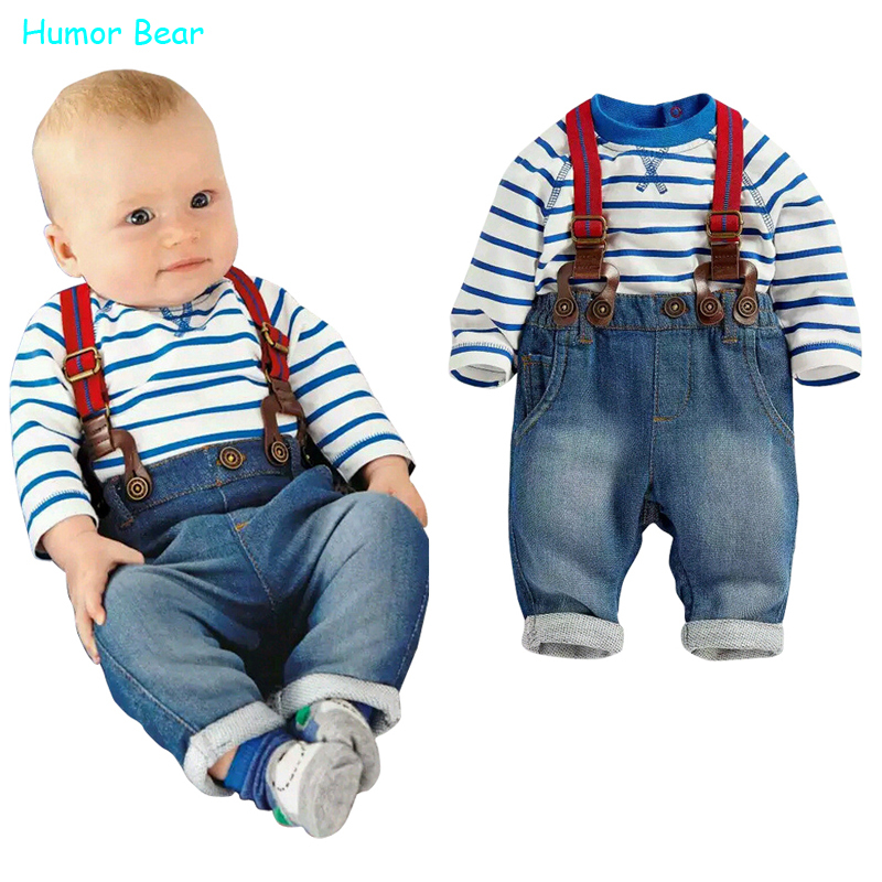 6272b649334dd Humor Bear baby clothing set cool boys 3pcs suit (t shirt+pant +straps)  Autumn and winter infant garment kids clothes wear-in Clothing Sets from  Mother   ...